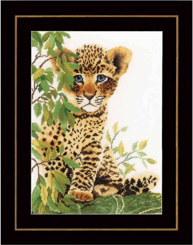 Lanarte Little Panther (Evenweave) Animals & Birds CSK