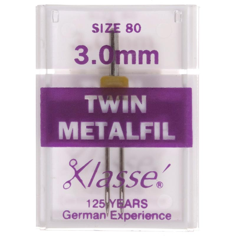 Klasse Sewing Machine Needles: Twin Embroidery: 80/3mm: 1 Piece