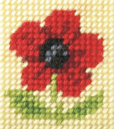 Orchidea Poppy Embroidery Kit - Clearance