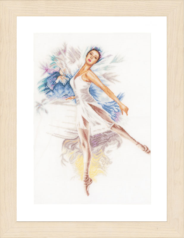 Lanarte Counted Cross Stitch Kit: Ballerina (Linen)