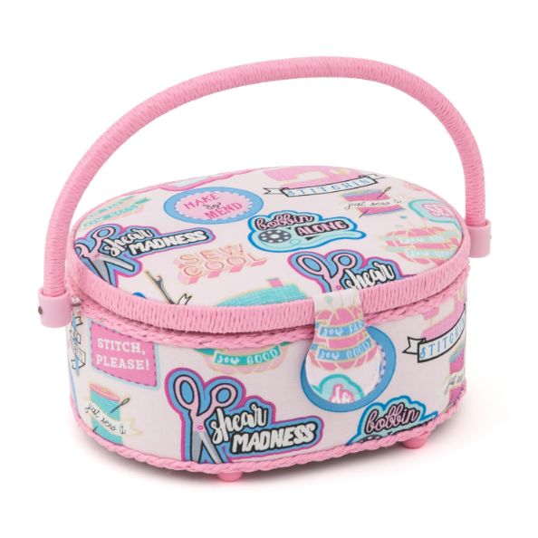 HobbyGift HGSO_510 | Sewing Box (S) | Oval | Sew Cool