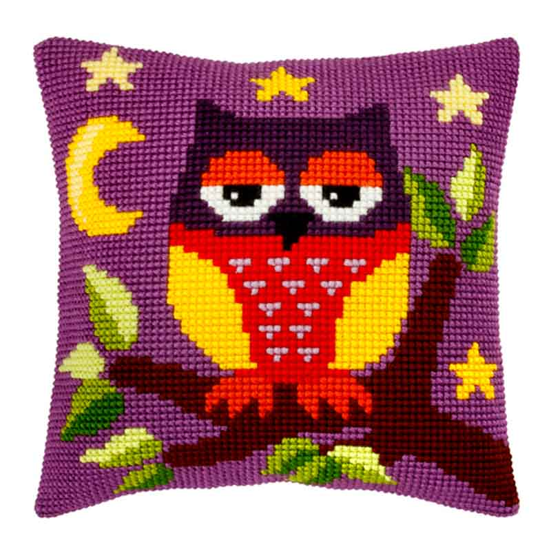 Orchidea Cross Stitch Kit: Cushion: Large: Owl Animals & Birds CSCK