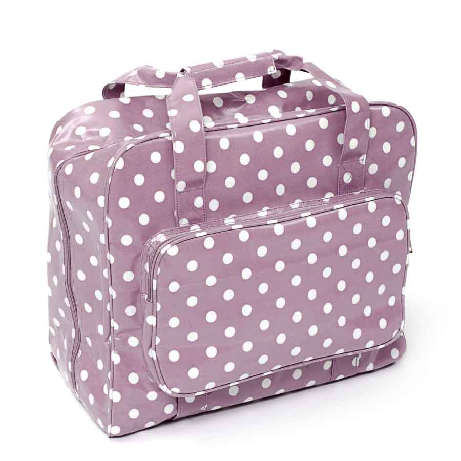 HobbyGift Sewing Machine Bag: PVC: Mauve Spot | MR4660_121