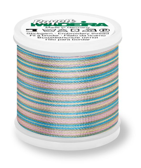 Madeira 9840_2103 | Rayon Multicolor Embroidery Thread 200m | Bright Baby Pink/Mint/Blue