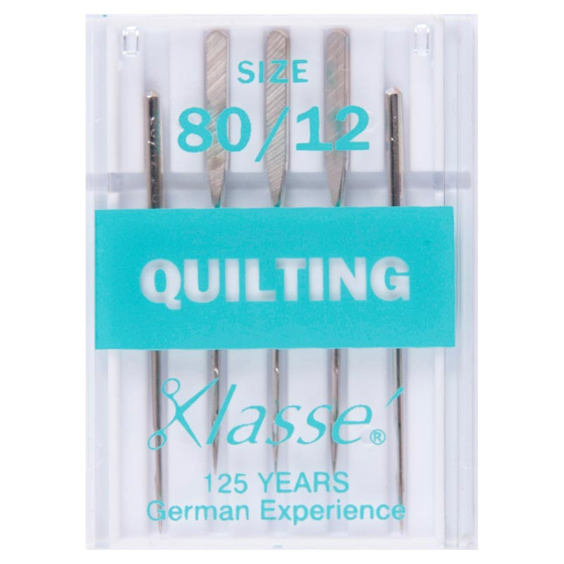 Klasse Sewing Machine Needles: Quilting: 80/12: 5 Pieces Quilting Needle