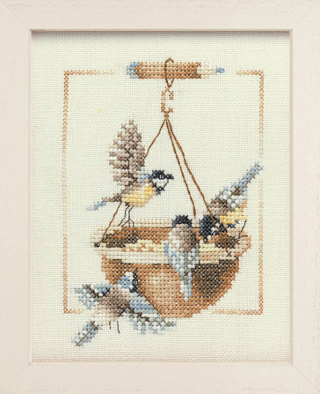 Lanarte Counted Cross Stitch Kit: Feeding Dish with Birds