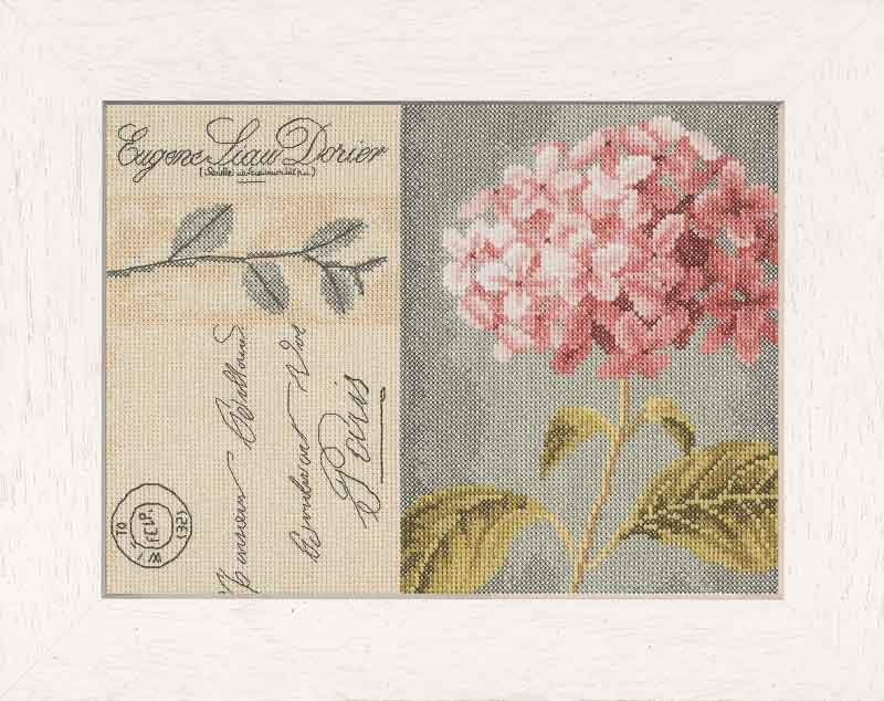 Lanarte Counted Cross Stitch Kit: Hydrangea