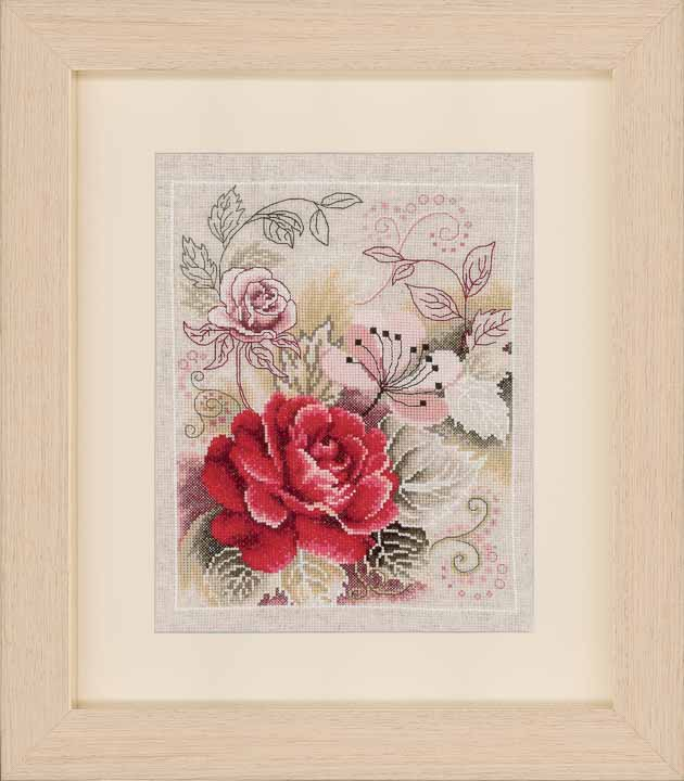Counted Cross Stitch Kit - Rose