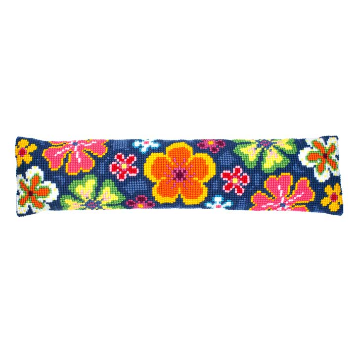 Vervaco Cross Stitch Kit: Draught Excluder: Bright Flower Draught Excluder CSK