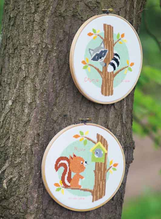 Counted Cross Stitch Kit: Raccoon in Tree Animals & Birds CSK