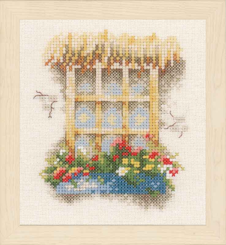 Lanarte Window & Flowers (Evenweave)