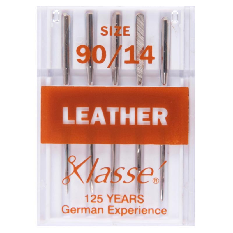 Klasse Sewing Machine Needles: Leather: 90/14: 5 Pieces