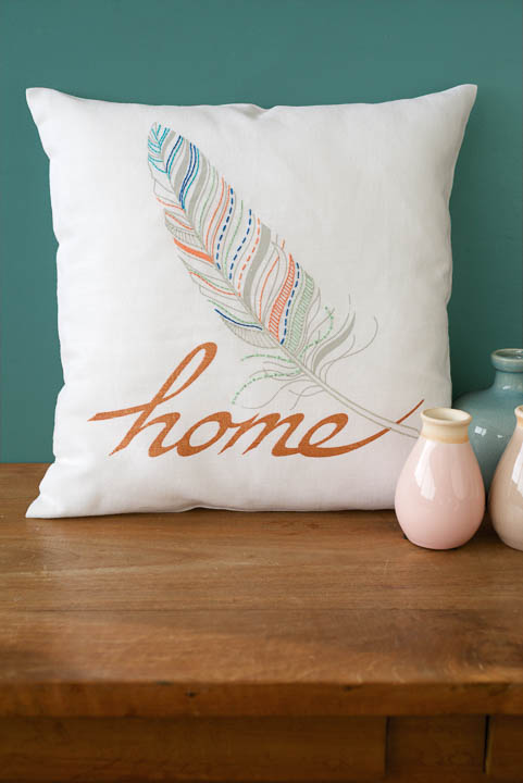 Vervaco Embroidery Kit: Cushion: Feather Home Cushion