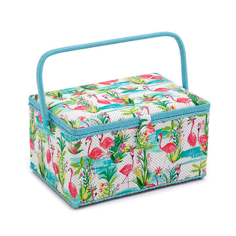 HobbyGift Sewing Box (XL): Flamingos | HGXL_324 Bird Print Sewing Box