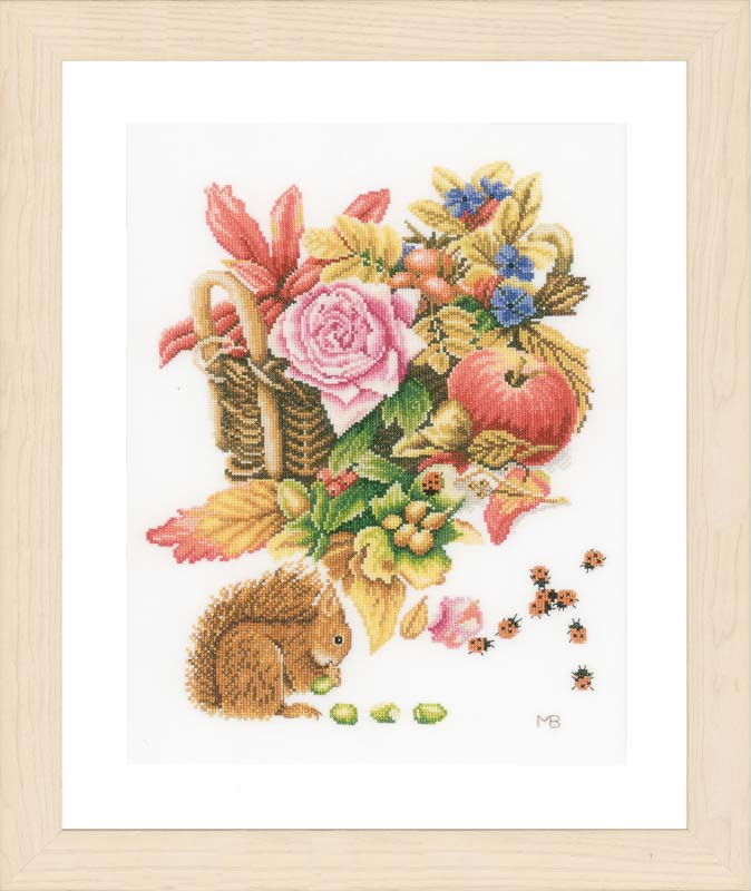 Lanarte Counted Cross Stitch Kit: Squirrel (Evenweave)