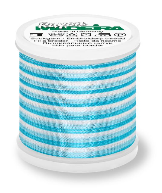Madeira 9840_2025 | Rayon Multicolor Embroidery Thread 200m | Ombre/Teal/Blues