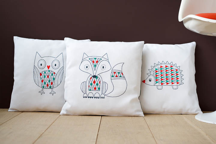Vervaco Embroidery: Cushion: Fox Embroidery Cushion Kit