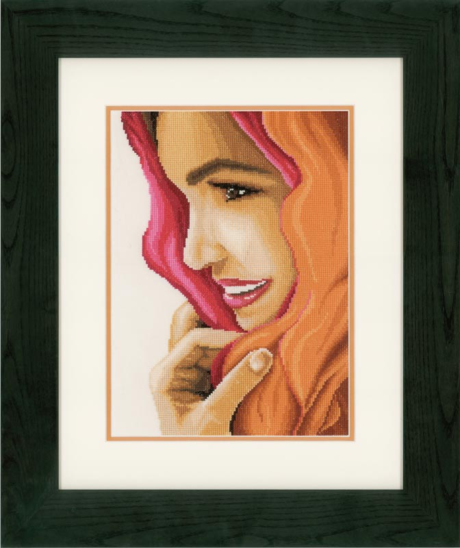 Lanarte Counted Cross Stitch Kit: Woman with Scarf (Evenweave)