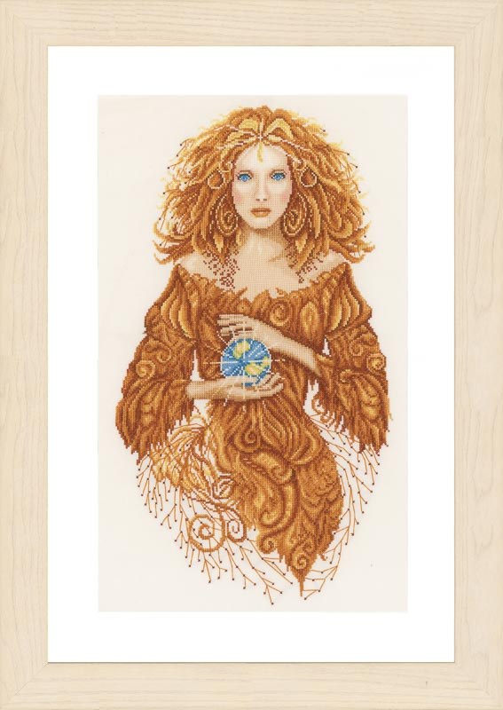 Lanarte Counted Cross Stitch Kit: Mother Earth (Evenweave) Beauty & Love CSK