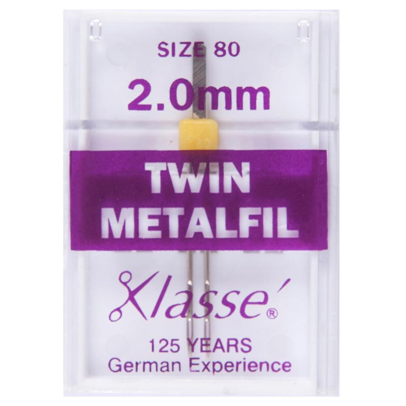 Klasse Sewing Machine Needles: Twin Embroidery: 80/2mm: 1 Piece