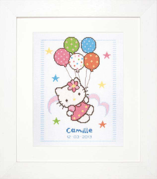 Counted Cross Stitch: Birth Record: Hello Kitty Birth Records CSK
