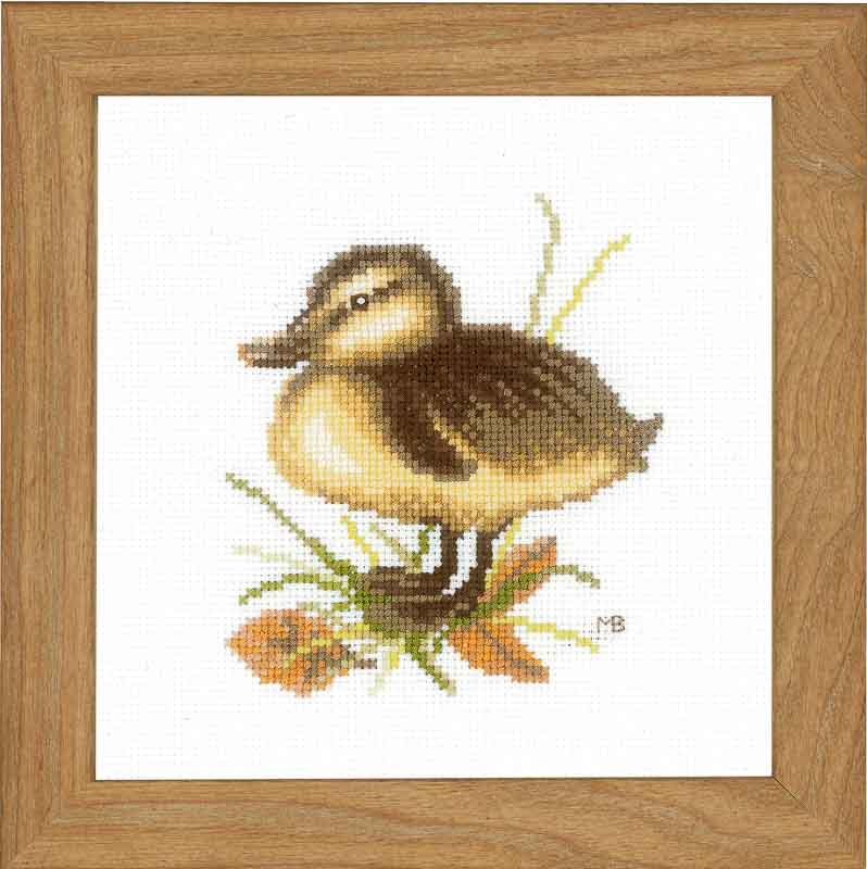 Lanarte Counted Cross Stitch Kit: Duckling Two (Aida,W)