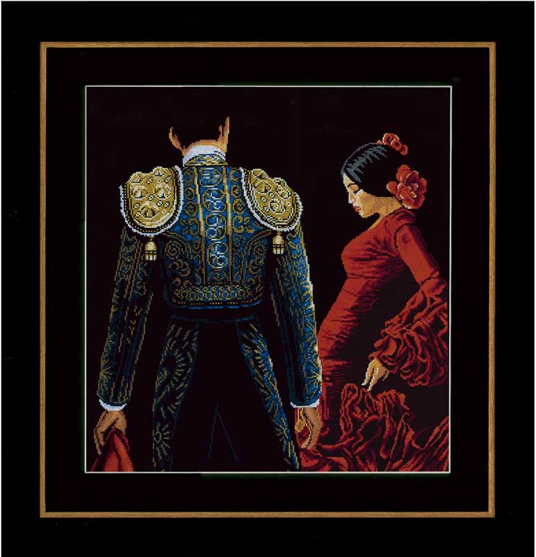 Lanarte Counted Cross Stitch Kit: Dancing In Passion (Aida,B) Beauty & Love CSK