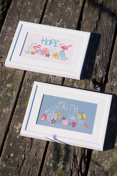 Counted Cross Stitch: Kit: Hope Faith and Celestial CSCK