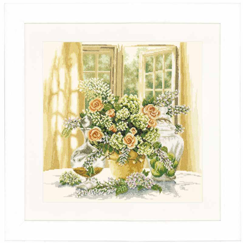 Lanarte Counted Cross Stitch Kit: A Sunny Morning