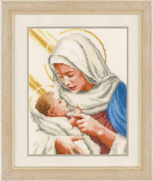 Counted Cross Stitch: Maria And Jesus Faith and Celestial CSCK