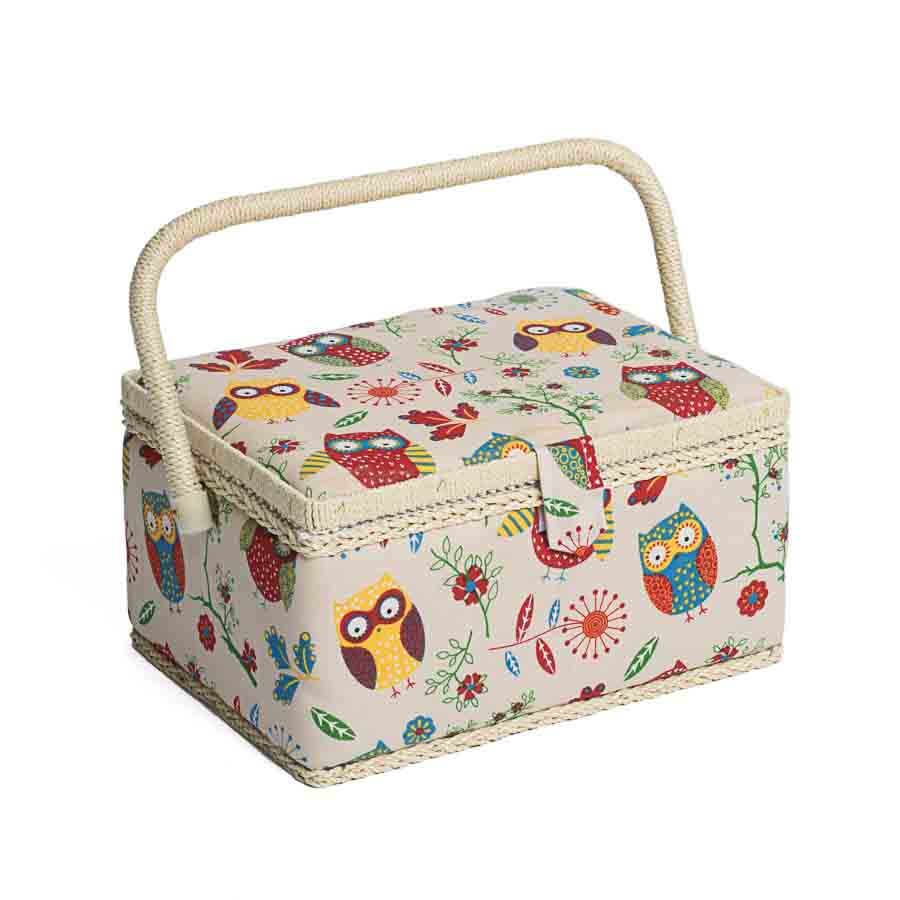 HobbyGift MRM_29 | Sewing Box (M) | Rectangle | Owl