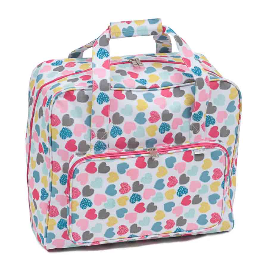 HobbyGift Sewing Machine Bag: Matt PVC: Love | MR4660_276