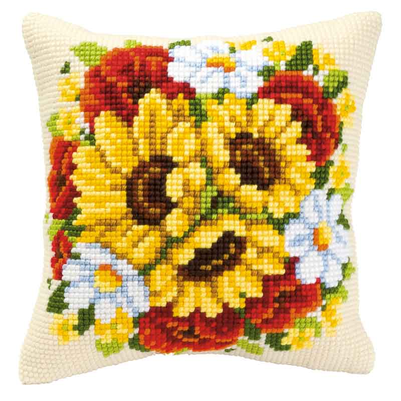 Vervaco Cross Stitch Cushion Kit: Floral Posy