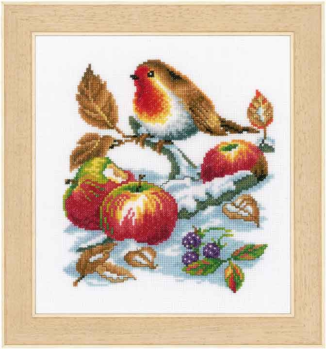 Counted Cross Stitch Kit: Robins Treasure