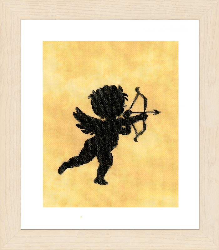 Lanarte Counted Cross Stitch Kit: Cupid I (Evenweave)