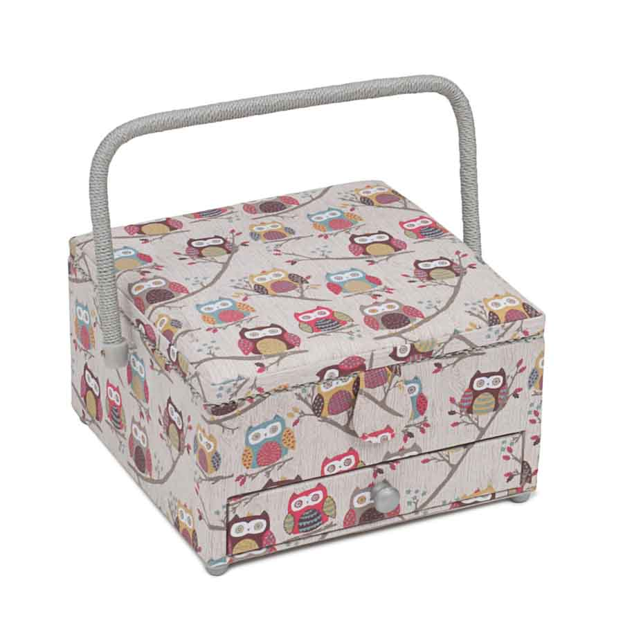 HobbyGift MRLD_195 | Sewing Box: Square with Drawer: Hoot