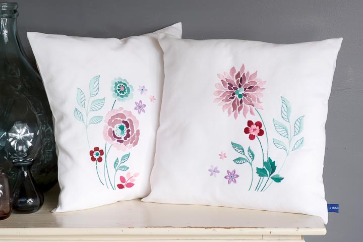 Vervaco Embroidery Kit: Cushion: Modern Flowers Cushion