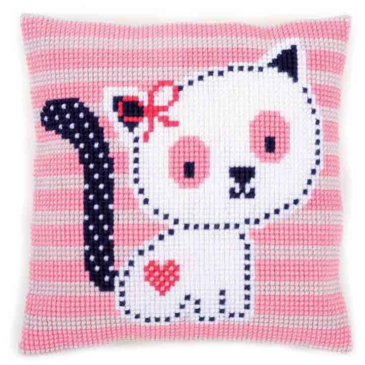 Vervaco Cross Stitch Cushion: Kitten