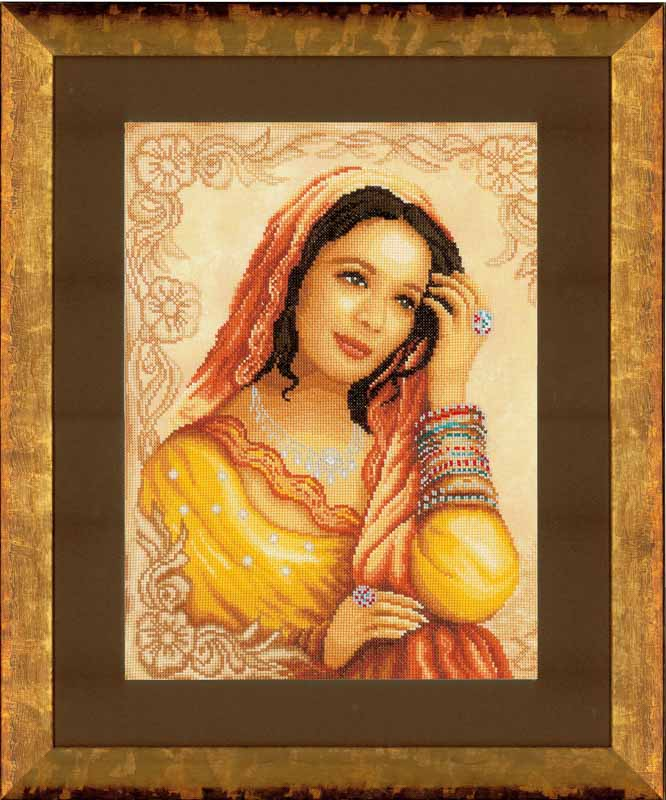 Lanarte Counted Cross Stitch Kit: Eastern Princess (Evenweave)