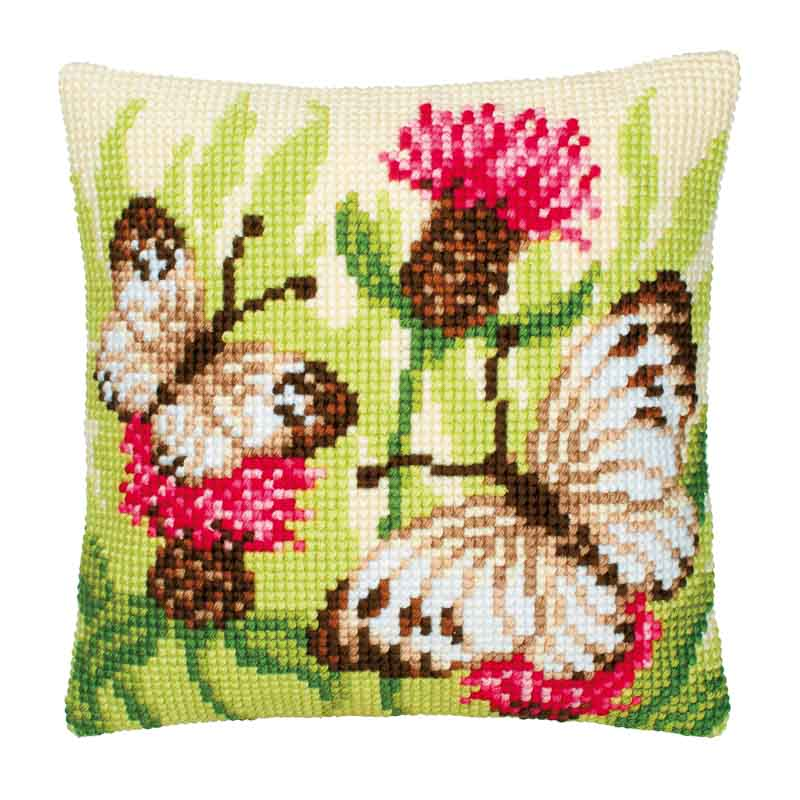 Vervaco Cross Stitch Cushion Kit: Butterflies Butterflies CSCK