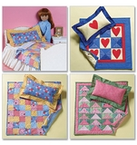 18 Inch Doll Bed & Mini Quilts One Size