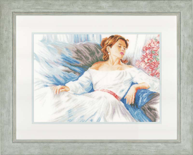 Lanarte Counted Cross Stitch Kit: Rhapsody in Blue (Linen)