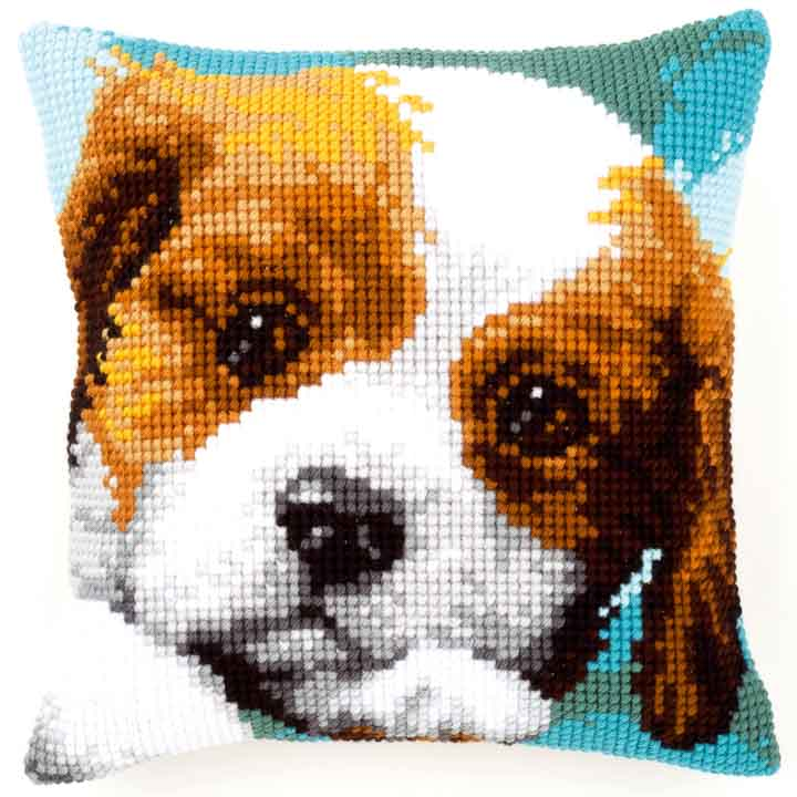 Vervaco Cross Stitch Cushion: Puppy Cats & Dogs CSCK