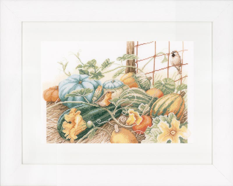 Lanarte Counted Cross Stitch Kit: Pumpkins (Aida,W)