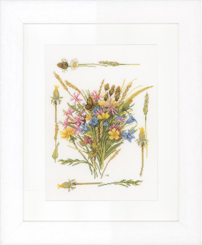 Lanarte Counted Cross Stitch Kit: Field Bouquet (Aida)