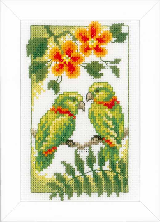Counted Cross Stitch Kits: Exotic Birds