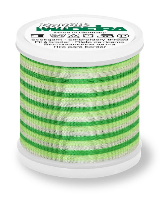 Madeira 9840_2031 | Rayon Multicolor Embroidery Thread 200m | Ombre Bright/Greens