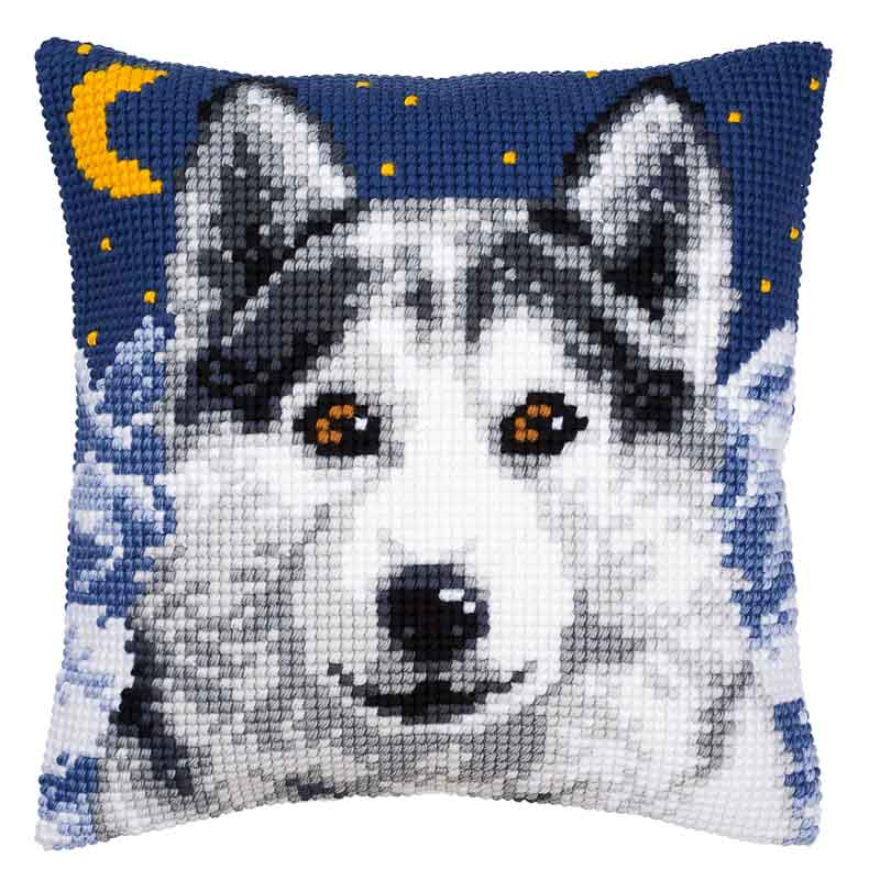 Vervaco Cross Stitch Cushion Kit: Wolf