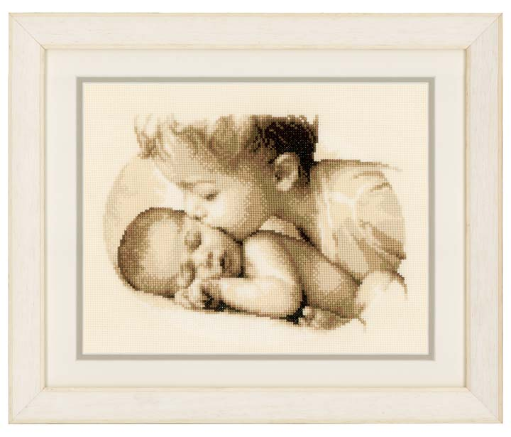 Counted Cross Stitch Kit: Brotherly Love Beauty & Love CSK