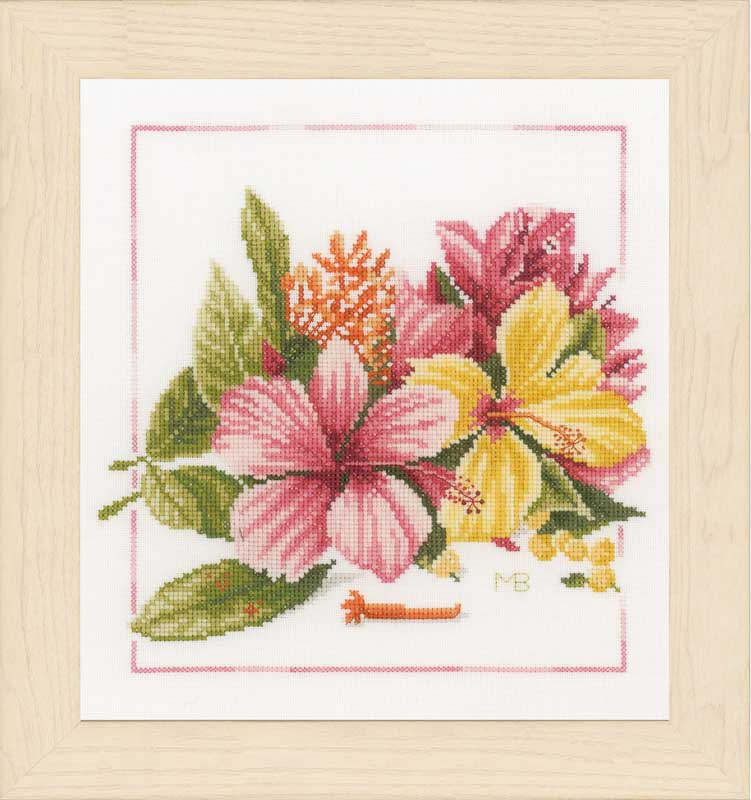Lanarte Counted Cross Stitch Kit - Amaryllis Bouquet